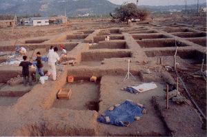 십삼행 유적 발굴 상황–중앙연구원 역사언어연구소 제공